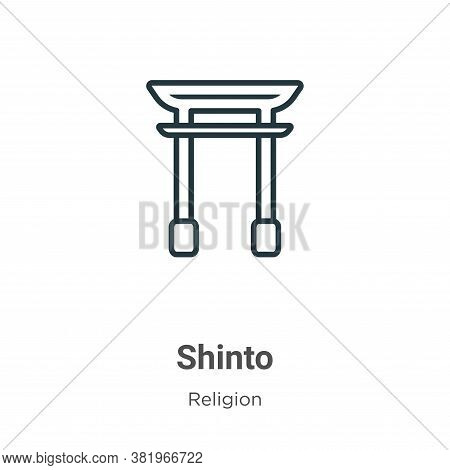 Shinto Icon From Religion Collection Isolated On White Background.