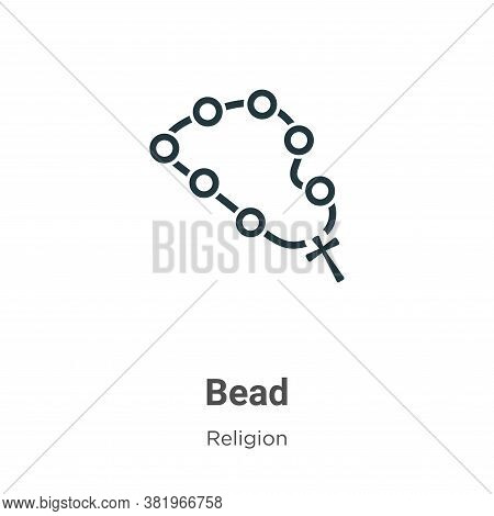Bead icon isolated on white background from religion collection. Bead icon trendy and modern Bead sy