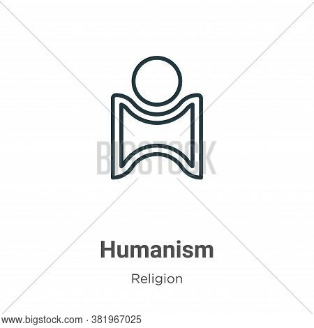 Humanism icon isolated on white background from religion collection. Humanism icon trendy and modern