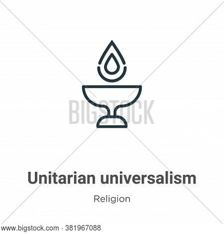 Unitarian universalism icon isolated on white background from religion collection. Unitarian univers