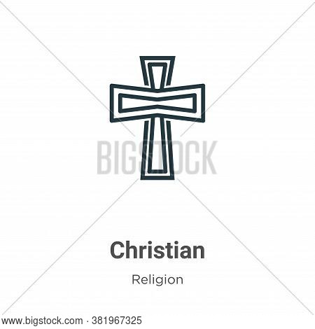 Christian icon isolated on white background from religion collection. Christian icon trendy and mode