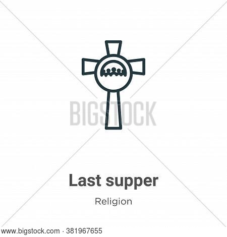 Last supper icon isolated on white background from religion collection. Last supper icon trendy and