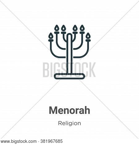 Menorah icon isolated on white background from religion collection. Menorah icon trendy and modern M