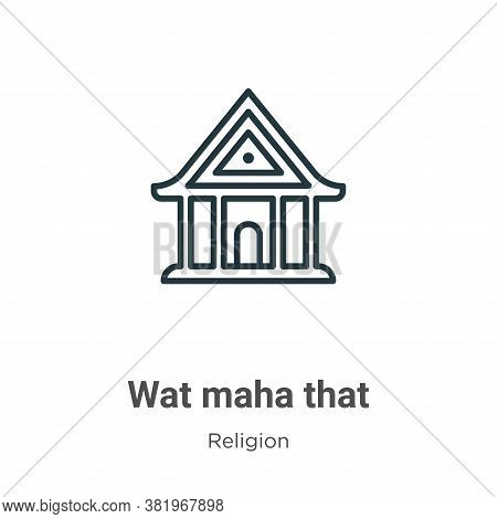 Wat maha that icon isolated on white background from religion collection. Wat maha that icon trendy