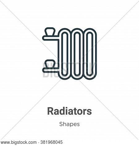 Radiators icon isolated on white background from shapes collection. Radiators icon trendy and modern