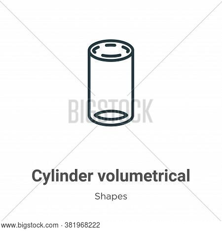 Cylinder volumetrical icon isolated on white background from shapes collection. Cylinder volumetrica