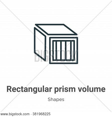 Rectangular prism volume icon isolated on white background from shapes collection. Rectangular prism