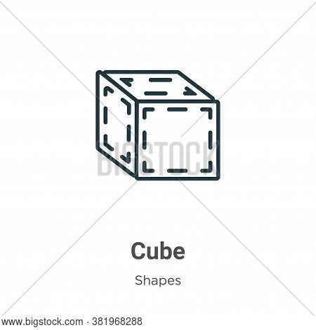 Cube icon isolated on white background from shapes collection. Cube icon trendy and modern Cube symb