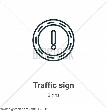 Traffic sign icon isolated on white background from signs collection. Traffic sign icon trendy and m