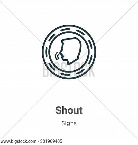 Shout Icon From Signs Collection Isolated On White Background.
