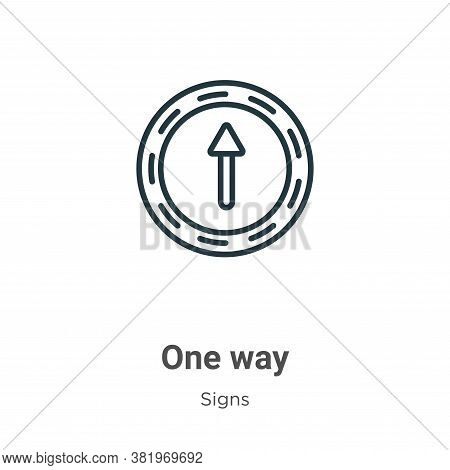 One way icon isolated on white background from signs collection. One way icon trendy and modern One