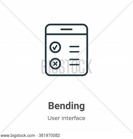 Bending icon isolated on white background from user interface collection. Bending icon trendy and mo