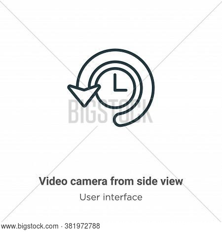 Video camera from side view icon isolated on white background from side view icon from side view ico