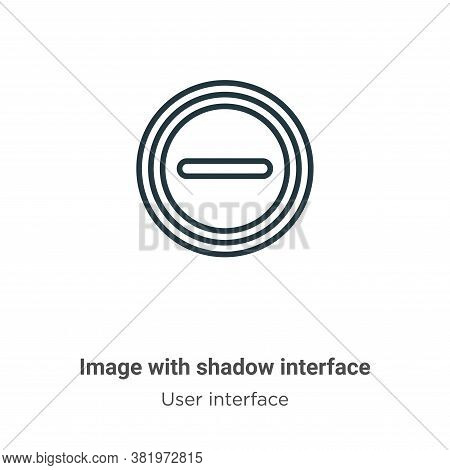 Image with shadow interface icon isolated on white background from user interface collection. Image