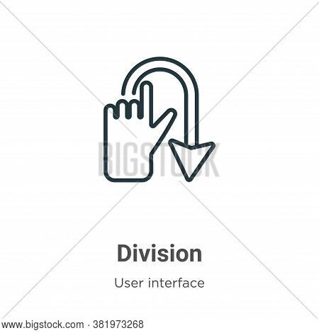 Division icon isolated on white background from user interface collection. Division icon trendy and