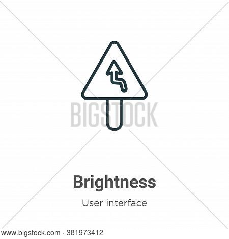 Brightness icon isolated on white background from user interface collection. Brightness icon trendy