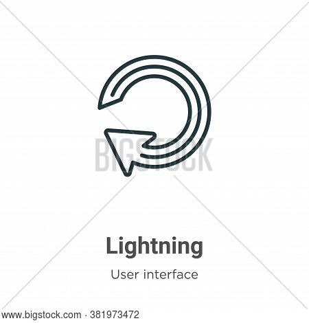 Lightning icon isolated on white background from user interface collection. Lightning icon trendy an