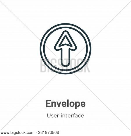 Envelope icon isolated on white background from user interface collection. Envelope icon trendy and