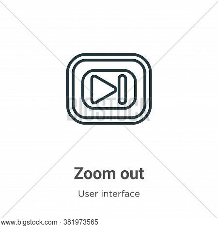 Zoom out icon isolated on white background from user interface collection. Zoom out icon trendy and