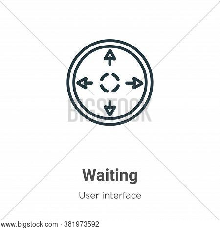 Waiting icon isolated on white background from user interface collection. Waiting icon trendy and mo