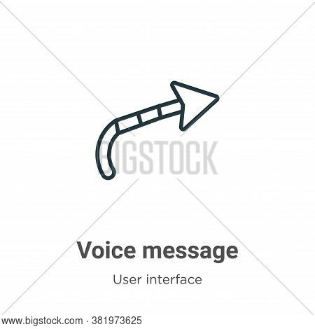 Voice message icon isolated on white background from user interface collection. Voice message icon t