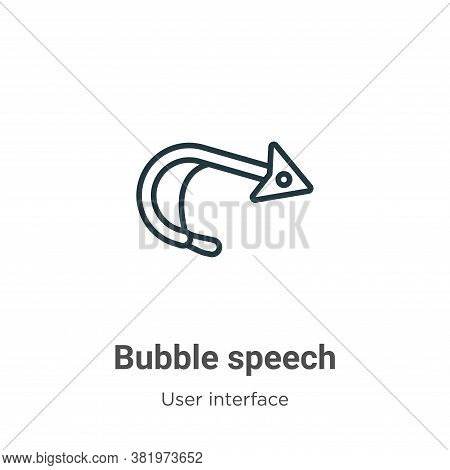 Bubble speech icon isolated on white background from user interface collection. Bubble speech icon t