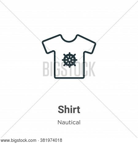 Shirt icon isolated on white background from nautical collection. Shirt icon trendy and modern Shirt