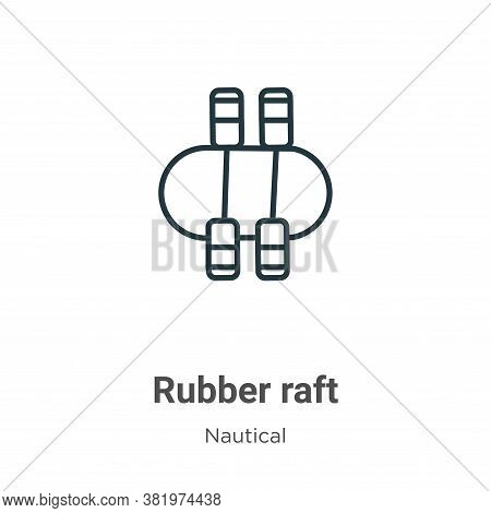 Rubber raft icon isolated on white background from nautical collection. Rubber raft icon trendy and
