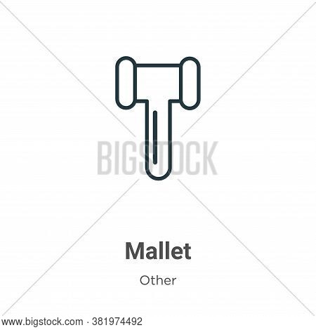 Mallet icon isolated on white background from other collection. Mallet icon trendy and modern Mallet