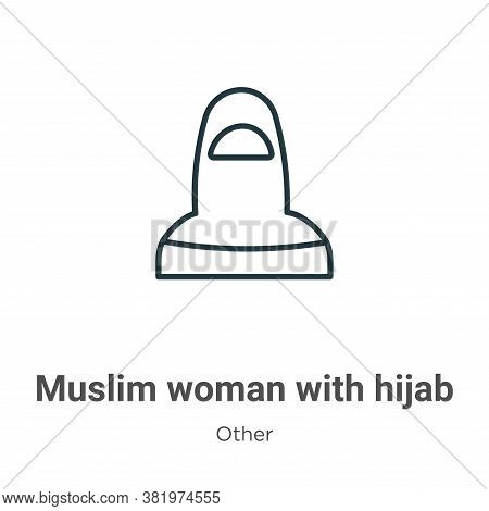 Muslim Woman With Hijab Icon From Other Collection Isolated On White Background.
