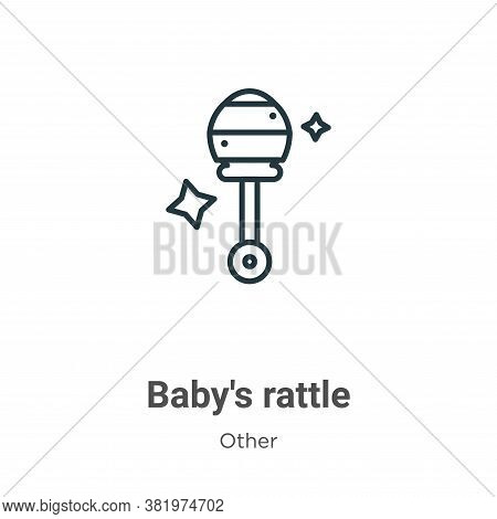 Babys rattle icon isolated on white background from other collection. Babys rattle icon trendy and m