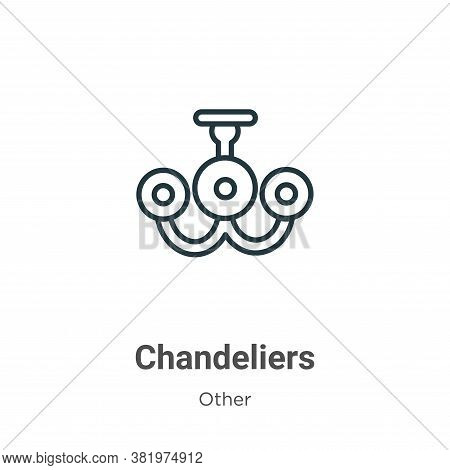 Chandeliers icon isolated on white background from other collection. Chandeliers icon trendy and mod