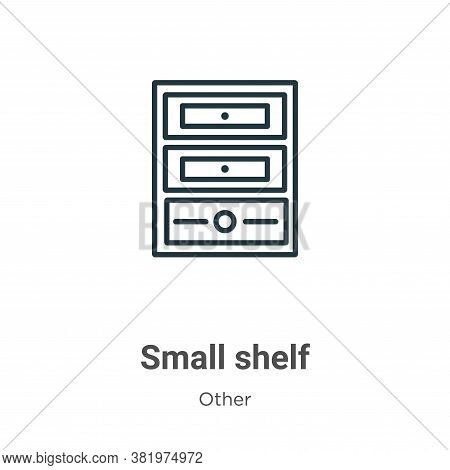 Small shelf icon isolated on white background from other collection. Small shelf icon trendy and mod