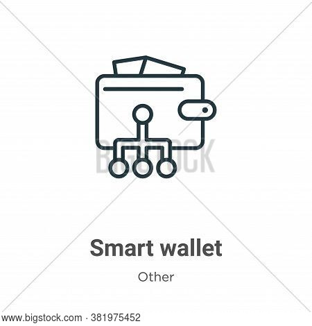 Smart wallet icon isolated on white background from other collection. Smart wallet icon trendy and m