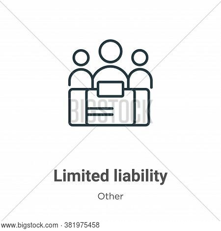 Limited liability icon isolated on white background from other collection. Limited liability icon tr