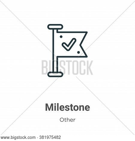 Milestone icon isolated on white background from other collection. Milestone icon trendy and modern