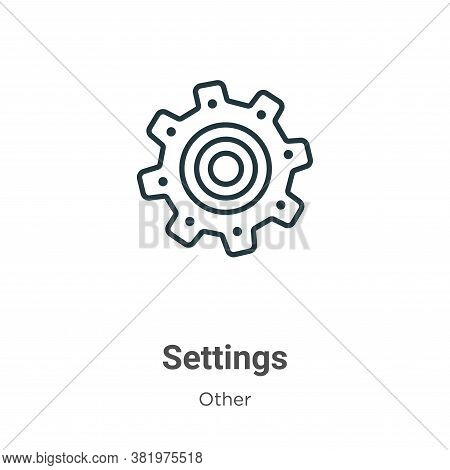 Settings icon isolated on white background from other collection. Settings icon trendy and modern Se