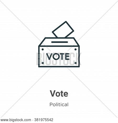 Vote icon isolated on white background from political collection. Vote icon trendy and modern Vote s