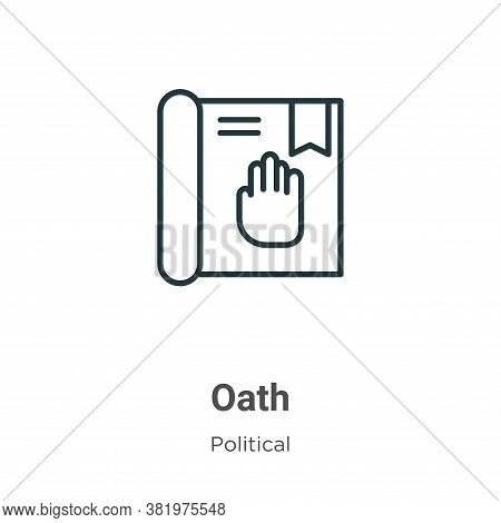 Oath icon isolated on white background from political collection. Oath icon trendy and modern Oath s