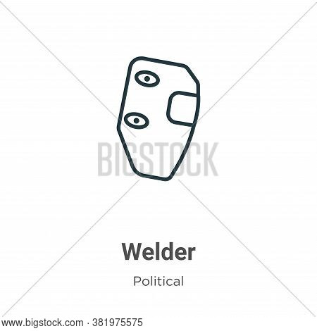 Welder icon isolated on white background from political collection. Welder icon trendy and modern We