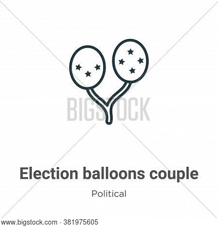 Election balloons couple icon isolated on white background from political collection. Election ballo