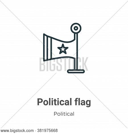 Political flag icon isolated on white background from political collection. Political flag icon tren
