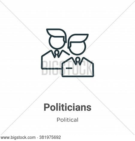 Politicians icon isolated on white background from political collection. Politicians icon trendy and