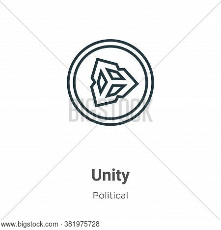Unity icon isolated on white background from political collection. Unity icon trendy and modern Unit