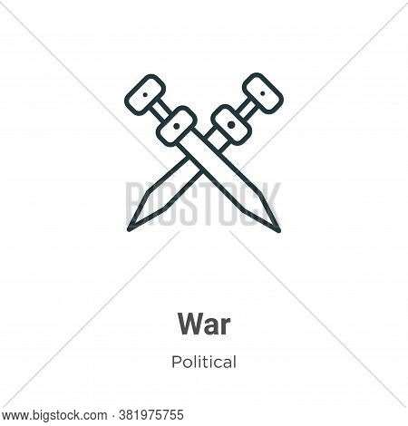 War icon isolated on white background from political collection. War icon trendy and modern War symb