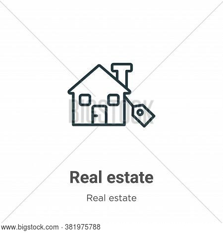 Real estate icon isolated on white background from real estate collection. Real estate icon trendy a