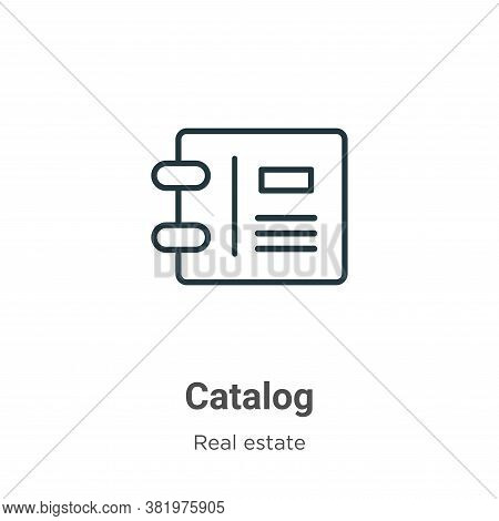 Catalog Icon From Real Estate Collection Isolated On White Background.