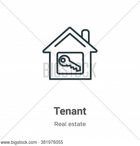 Tenant icon isolated on white background from real estate collection. Tenant icon trendy and modern