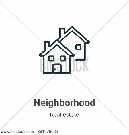 Neighborhood icon isolated on white background from real estate collection. Neighborhood icon trendy