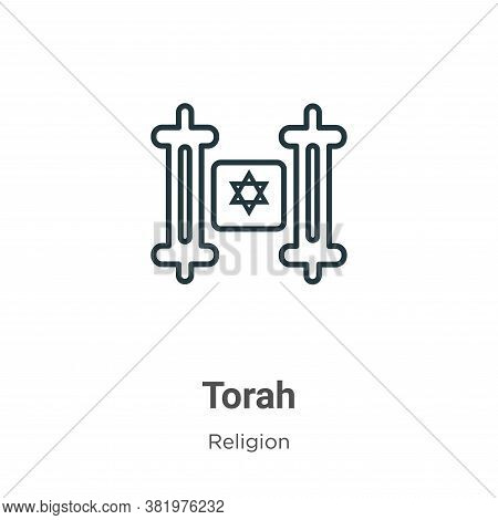 Torah icon isolated on white background from religion collection. Torah icon trendy and modern Torah